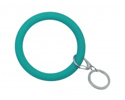 Teal Silicon Bangle Key Chain