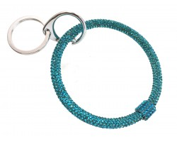 Aqua Crystal Bangle Key Chain