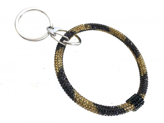 Black Gold Crystal Bangle Key Chain
