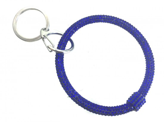 Blue Crystal Bangle Key Chain