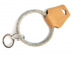 Clear & AB Crystal Bangle Key Chain