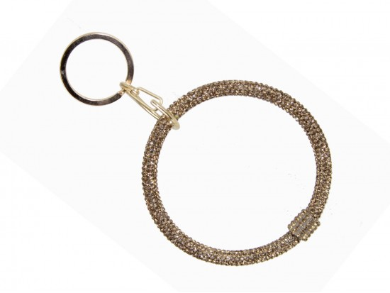 Gold Crystal Bangle Key Chain
