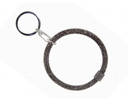 Gray Crystal Bangle Key Chain