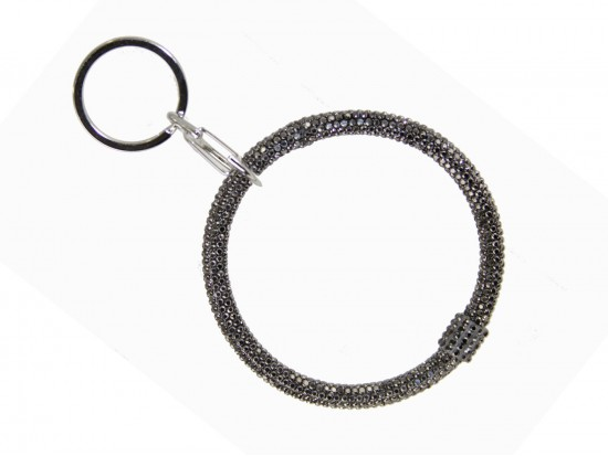 Hematite Crystal Bangle Key Chain