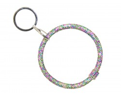 Light Multi Crystal Bangle Key Chain