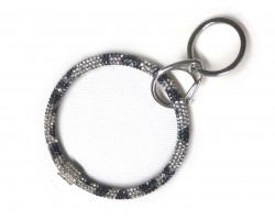Snow Leopard Crystal Bangle Key Chain