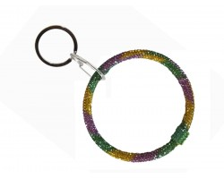 Mardi Gras Crystal Bangle Key Chain
