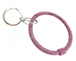 Pink Crystal Bangle Key Chain