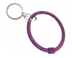 Purple Crystal Bangle Key Chain