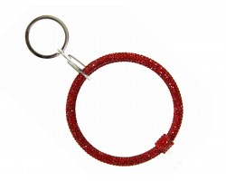 Red Crystal Bangle Key Chain