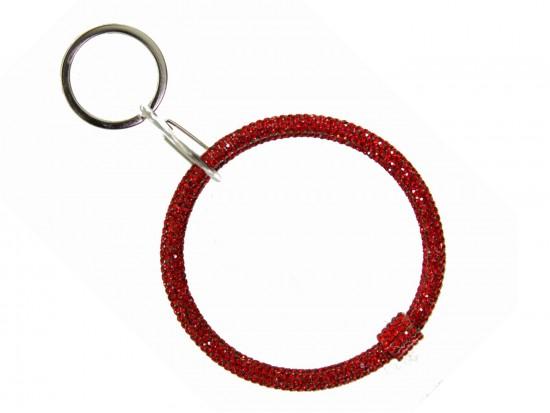 Red Crystal Bangle Key Chain