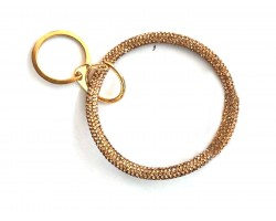 Rose Gold Crystal Ring Key Chain
