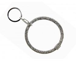 Silver Crystal Ring Key Chain