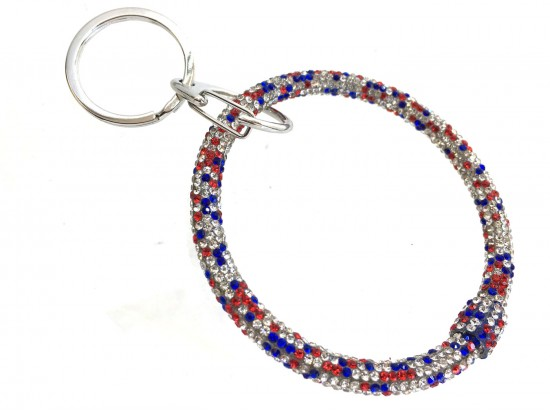 USA Crystal Bangle Key Chain