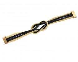 Black Gold Knot Mesh Magnetic Bracelet