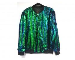 Blue Green Sequin Fade Jacket