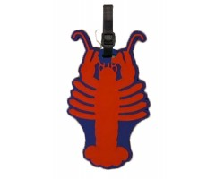 Red Crawfish Silicone Luggage Tag