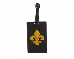 Black Gold Fleur De Lis Silicone Luggage Tag