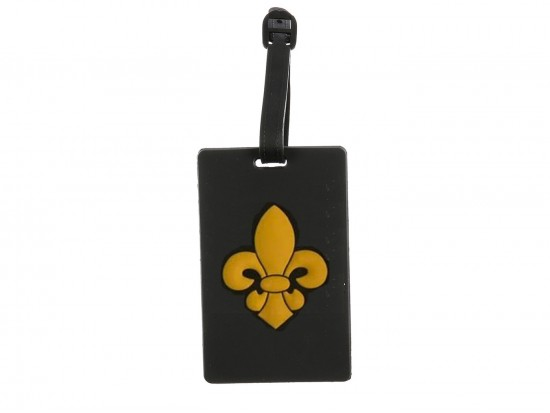 Black Gold Fleur De Lis Silicone Luggage Tag