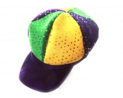 Mardi Gras Sequin Ball Cap