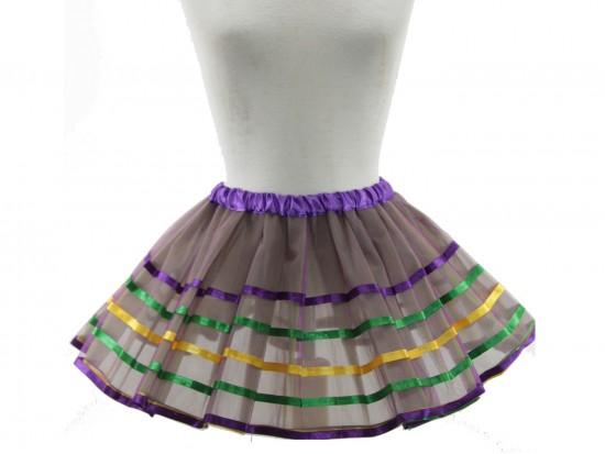 Mardi Gras Stripe Tutu Dress