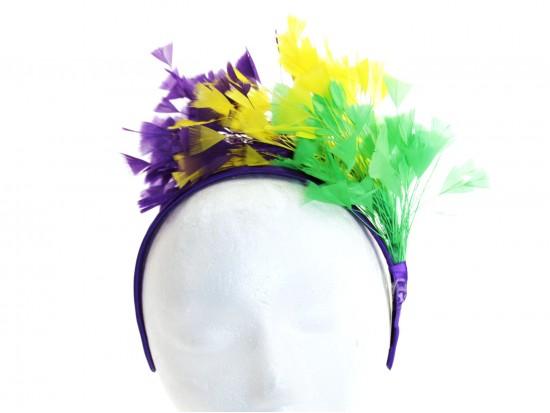 Mardi Gras Feather Headband