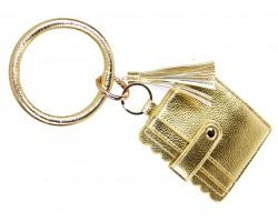 Gold Keychain Wallet Ring Bracelet