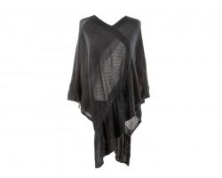 Black Pattern Poncho