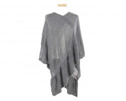 Gray Pattern Poncho