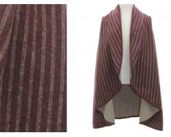Stripe Pattern Poncho