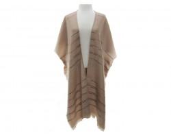 Stripe Kimono Style Poncho
