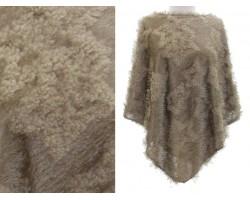 Brown Fur Poncho