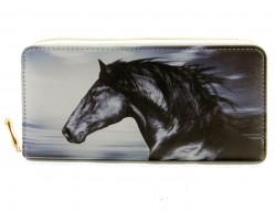 Mustang Horse Print Zipper Wallet