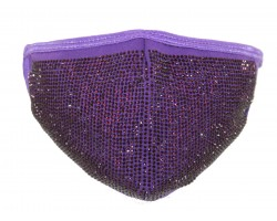 Purple Crystal Face Mask