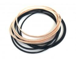 Black Gold Guitar String Bracelet 10pc Set