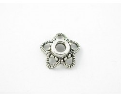 11mm Antique Silver Open Cut Star Bead Cap