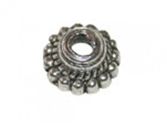 Antique Silver Bead Ridge Bead Cap