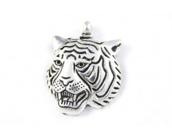 45mm Antique Silver LSU Tiger Head Pendant
