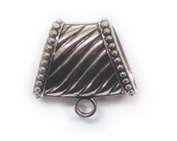 40mm Antique Silver Line Scarf Bail