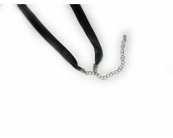 "16"" Black Satin Ribbon Necklace"