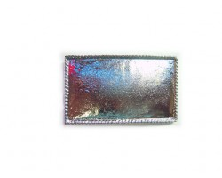 Silver Plate 75x45mm Rectangle Rope Design Belt Buckle