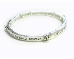 Restore Rebuild Renew Fleur De Lis Bracelet