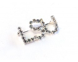 Clear Crystal LSU Brooch