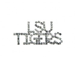 Clear Crystal LSU TIGERS Brooch