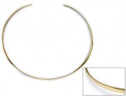 Gold Plated Plain Round Edge Choker