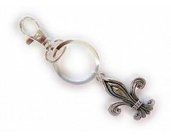 Silver Fleur De Lis Key Chain