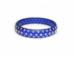 Blue Kids Crystal Bangle Bracelet