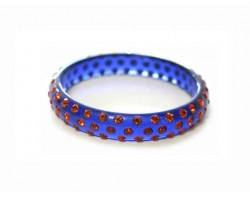 Royal Blue Kids Hyacinth Crystal Bangle Bracelet