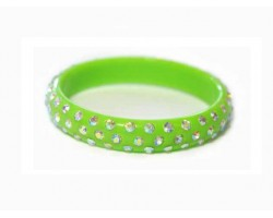 Lime Kids Crystal Bangle Bracelet