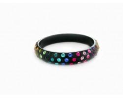 Dark Multi Kids Crystal Black Bangle Bracelet
